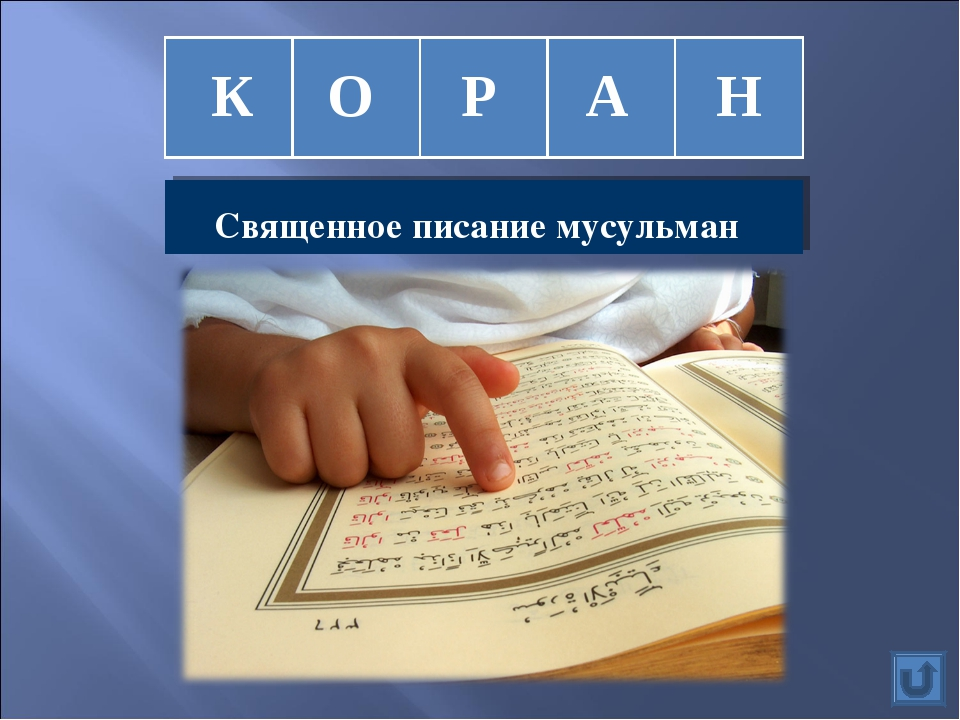 К О Р А Н Священное писание мусульман