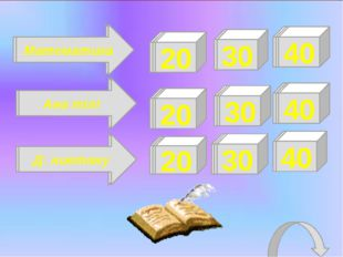 30 20 30 40 30 20 30 20 40 40 Физ-мат-инф Қазақ тілі, әдебиеті Орыс тілі, әде