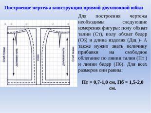 Для построения чертежа необходимы следующие измерения фигуры: полу обхват тал
