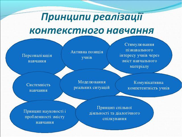 Персоналізація навчання Активна позиція учнів Стимулювання пізнавального інте...