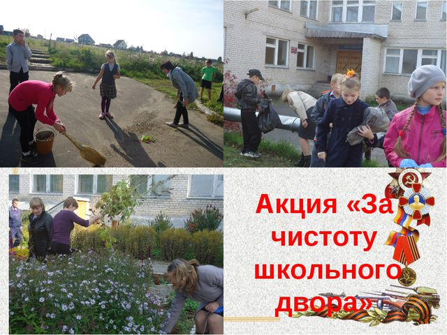 Акция «За чистоту школьного двора»