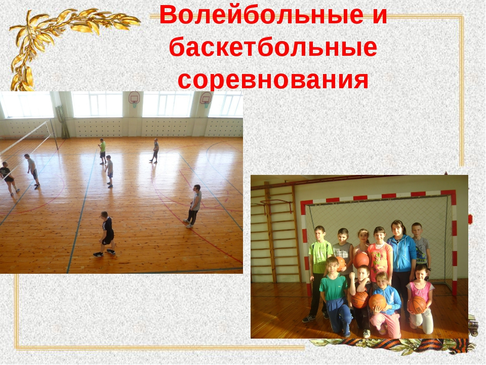 Волейбольные и баскетбольные соревнования