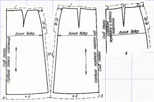 Раскрой прямой двухшовной юбки. Выкройка прямой двухшовной юбки. Как сшить прямую двухшовную юбку своими руками?