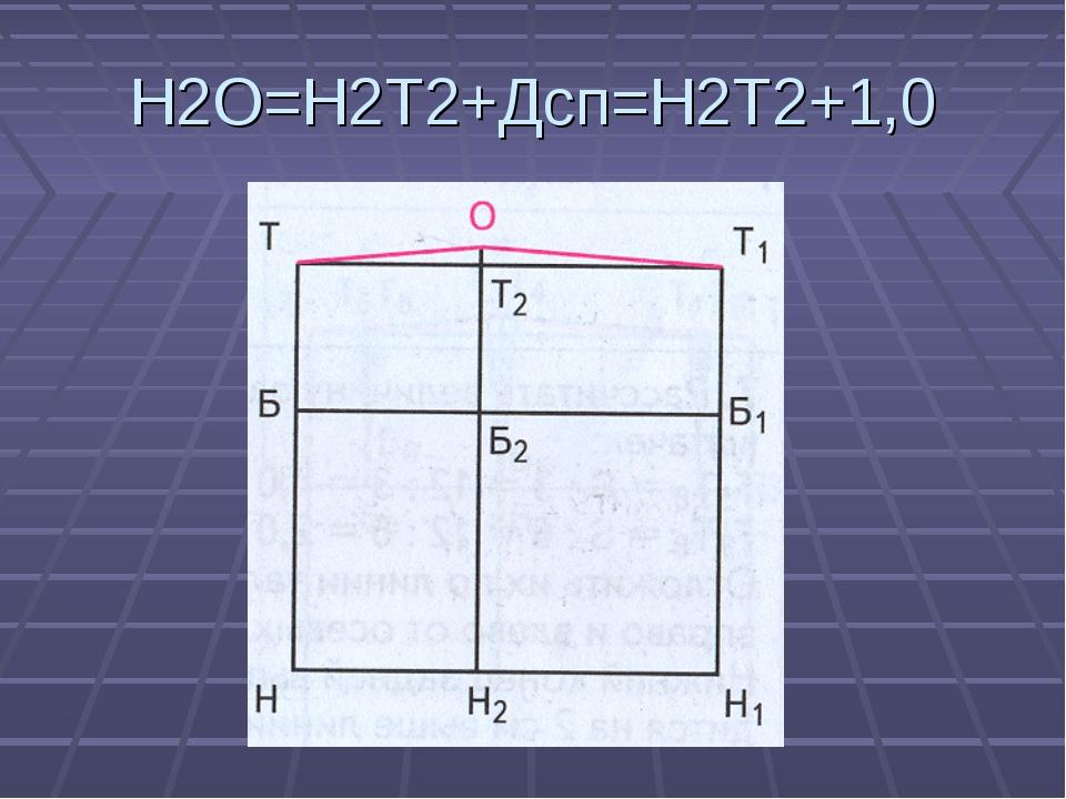 Н2О=Н2Т2+Дсп=Н2Т2+1,0