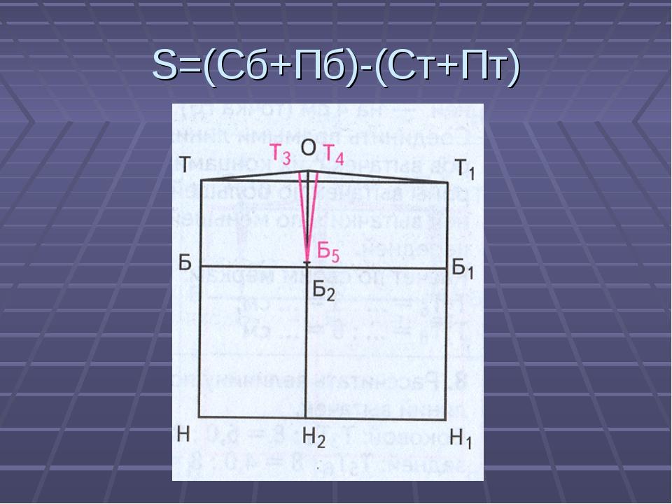 S=(Сб+Пб)-(Ст+Пт)
