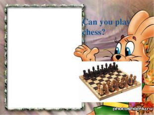 Can you play chess?