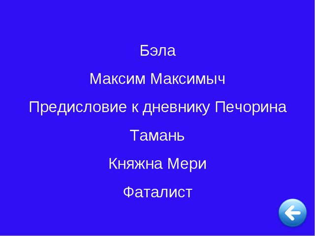 Бэла Максим Максимыч Предисловие к дневнику Печорина Тамань Княжна Мери Фатал...
