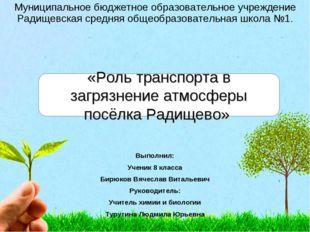 Муниципальное бюджетное образовательное учреждение Радищевская средняя общеоб