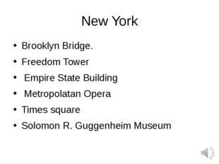 New York Brooklyn Bridge. Freedom Tower Empire State Building  Metropolatan