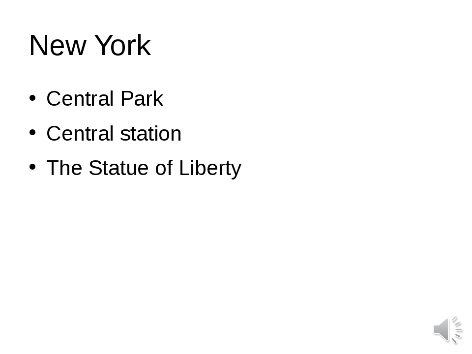 New York Central Park Central station The Statue of Liberty