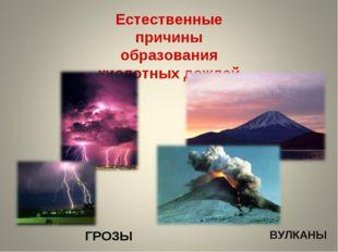 Естественные причины образования кислотных дождей ГРОЗЫ ВУЛКАНЫ