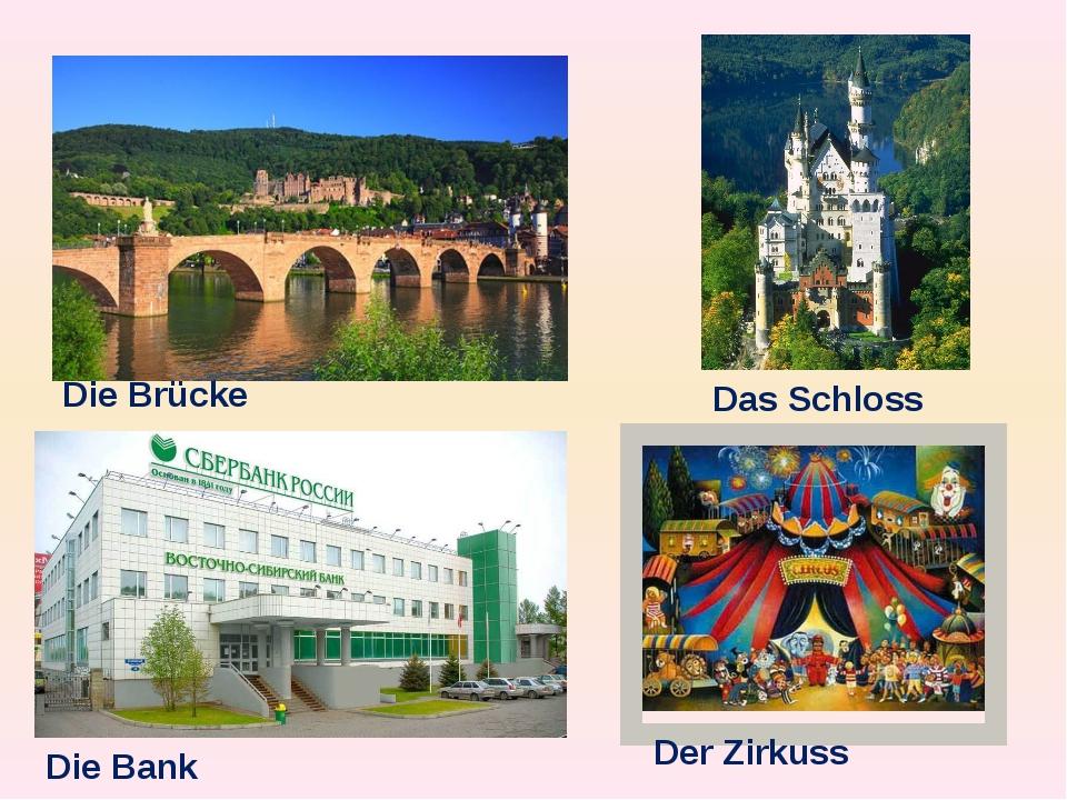 Die Brücke Das Schloss Die Bank Der Zirkuss