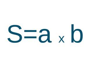 S=a x b