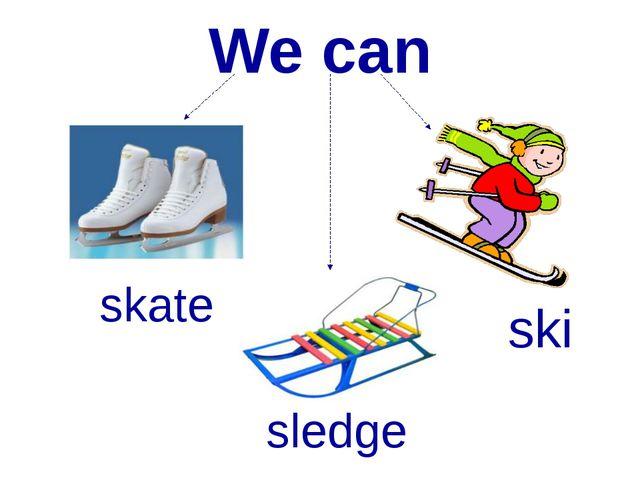 We can ski sledge skate