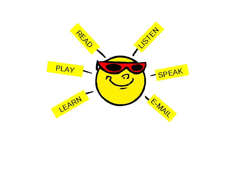 READ PLAY LEARN LISTEN SPEAK E-MAIL PLAY PLAY