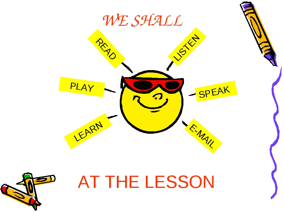 WE SHALL READ PLAY LEARN LISTEN SPEAK E-MAIL PLAY PLAY AT THE LESSON