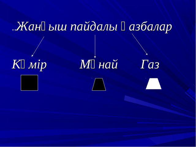 ..Жанғыш пайдалы қазбалар Көмір Мұнай Газ