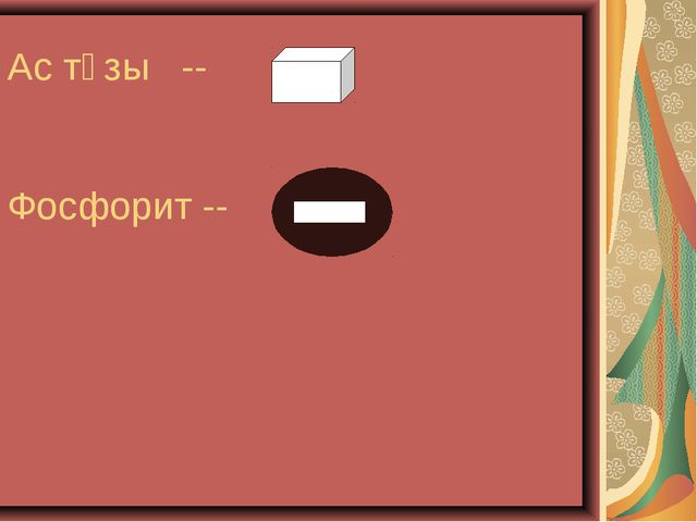 Ас тұзы -- Фосфорит --