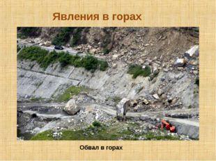 Явления в горах Обвал в горах