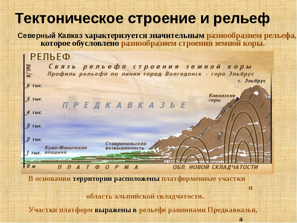 Тектоническое строение и рельеф Северный Кавказ характеризуется значительным...
