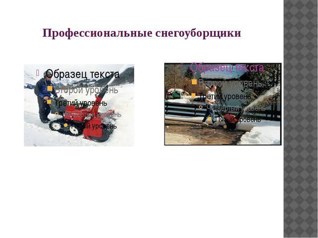 Профессиональные снегоуборщики