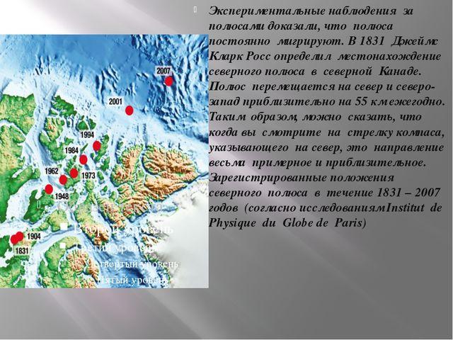 Экспериментальные наблюдения за полюсами доказали, что полюса постоянно мигри...