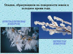 Осадки, образующиеся на поверхности земли в холодное время года.