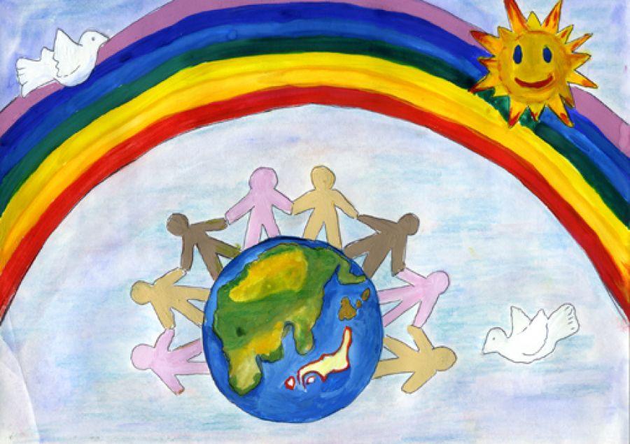 Наш мир наша страна рисунок
