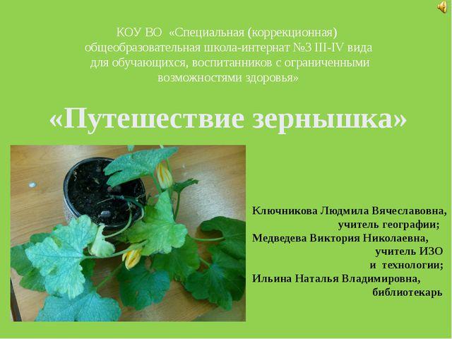 КОУ ВО «Специальная (коррекционная) общеобразовательная школа-интернат №3 II...