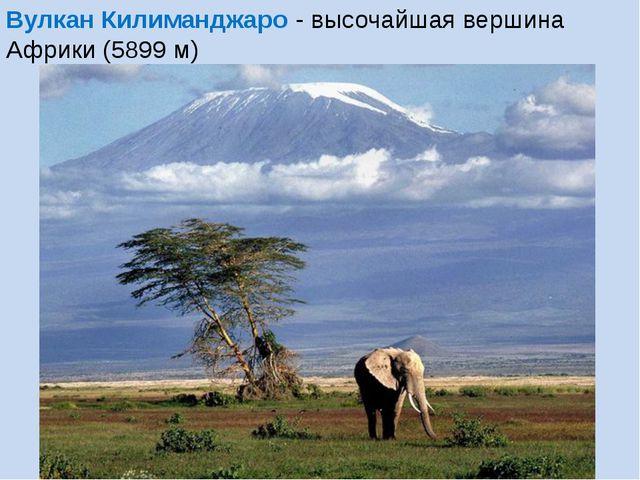 Вулкан Килиманджаро - высочайшая вершина Африки (5899 м)
