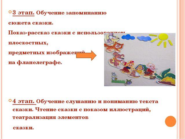 3 этап. Обучение запоминанию сюжета сказки. Показ-рассказ сказки с использова...