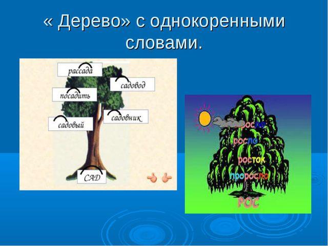 « Дерево» с однокоренными словами.