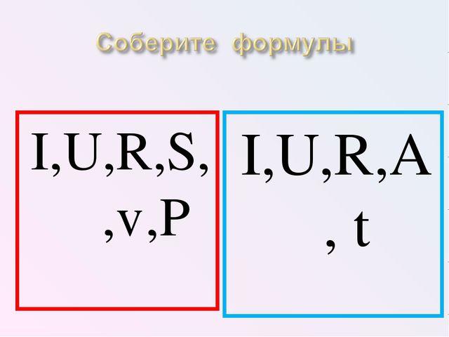 I,U,R,A, t I,U,R,S,ρ,ℓ,P