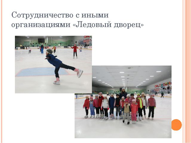Сотрудничество с иными организациями «Ледовый дворец»