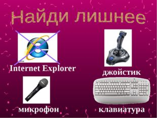 Internet Explorer микрофон джойстик клавиатура