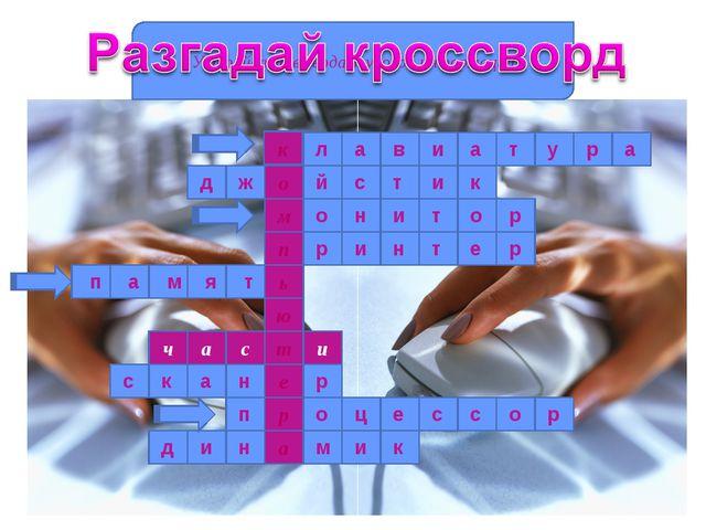 к о м п ь ю а ч с и т е р а Устройство ввода алфавитно-цифровой информации. «...
