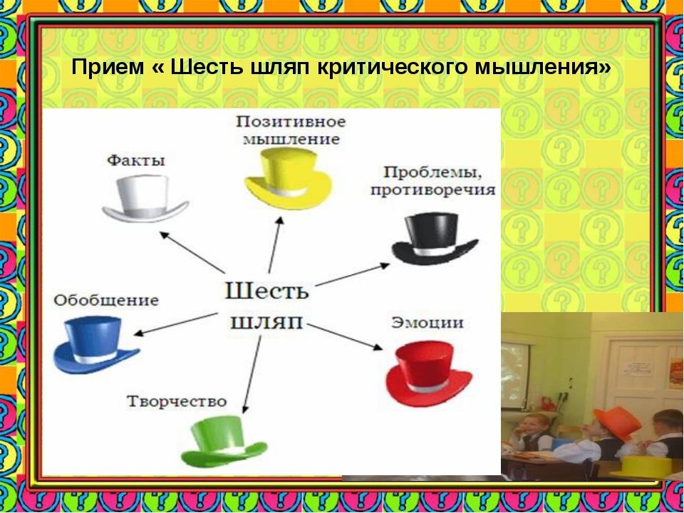 Прием « Шесть шляп критического мышления»