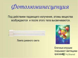 Фотолюминесценция, Падающий на вещество свет частично отражается, а частично