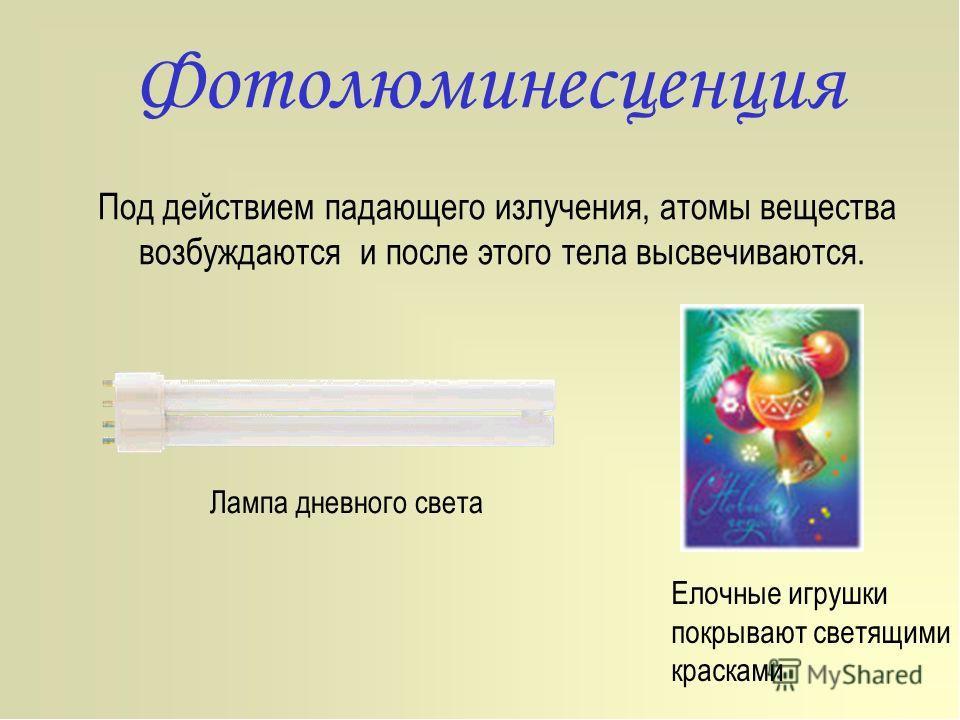 Фотолюминесценция, Падающий на вещество свет частично отражается, а частично...
