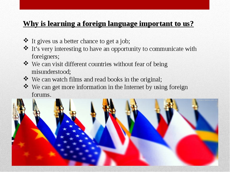 why learning foreign language is important