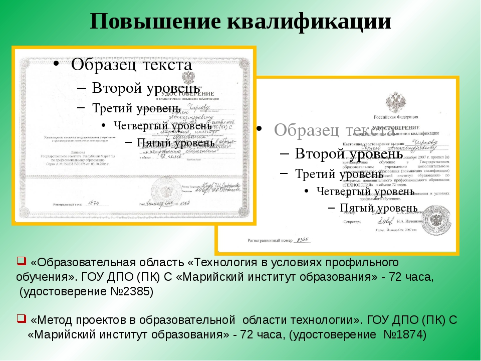 Повышение квалификации «Образовательная область «Технология в условиях профил...