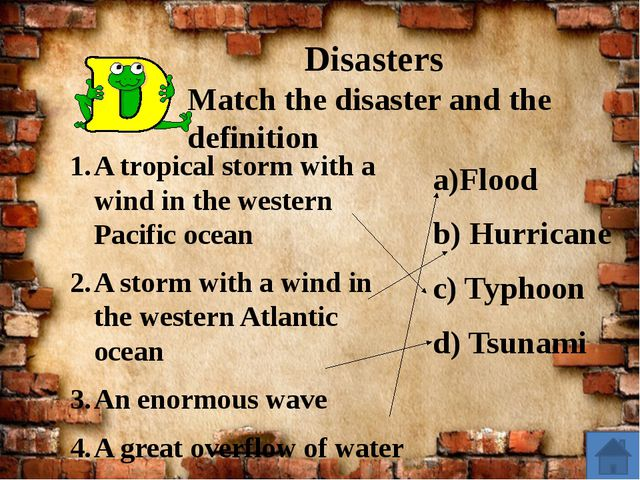 Disasters A tropical storm with a wind in the western Pacific ocean A storm...