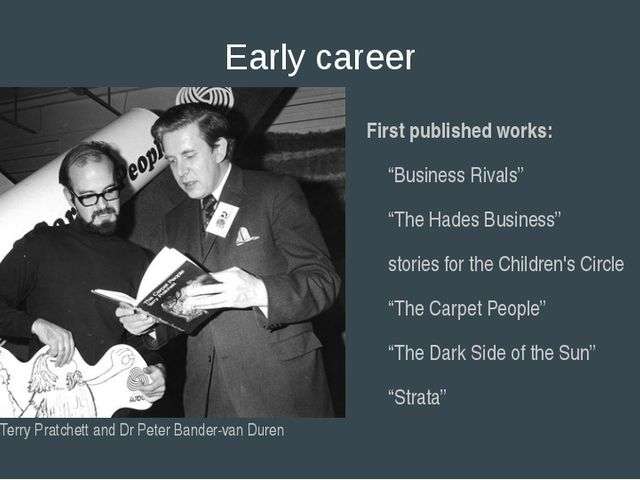 "Early career First published works: ""Business Rivals"" ""The Hades Business"" st..."