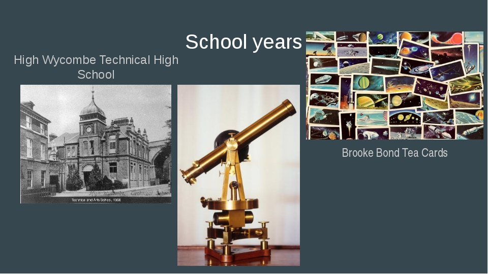 School years Brooke Bond Tea Cards High Wycombe Technical High School