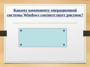 Какому компоненту операционной системы Windows соответствует рисунок?