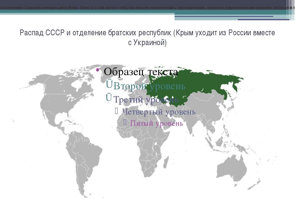 Распад СССР и отделение братских республик (Крым уходит из России вместе с Ук...