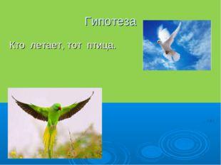 Гипотеза Кто летает, тот птица.