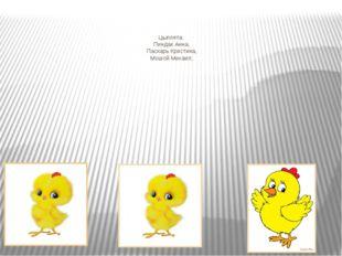 Цыплята: Пиндак Анна, Паскарь Кристина, Мошой Михаил;