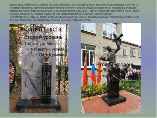 Школа № 83 Ногинского района Московской области, в которой учился мальчик, бы