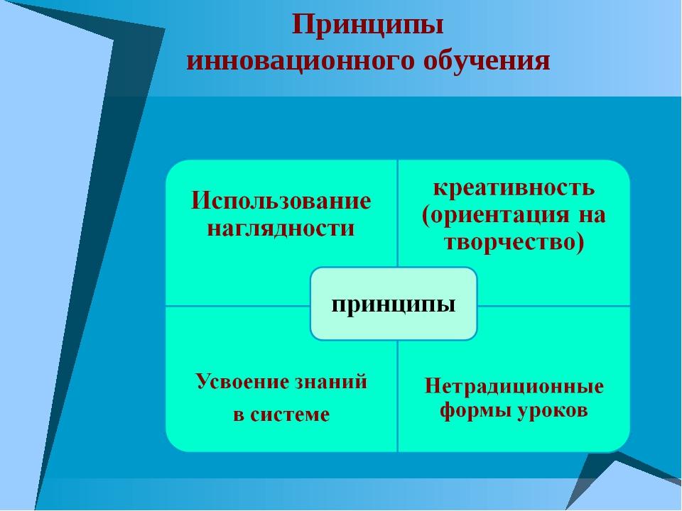 Принципы инновационного обучения